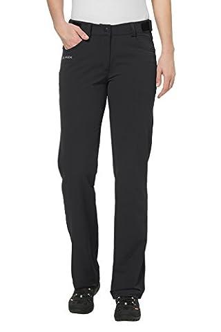 VAUDE Damen Softshellhose Trenton II, black, 42 (L), 04695