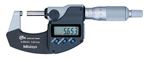 Mitutoyo 293-230-30 Digimatic Proof MICROMETRE du liquide de refroidissement, 0 Mm-25 mm