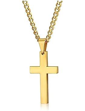 Jewelry Herren Kreuz Halskette für Herren Damen Anhänger Edelstahl 61cm
