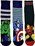 6 Paar/3 Paar NEU Aufdruck Marvel Comics Action Hero Design Socken Herren Neuheit Spaß Spiderman Hulk Captain America Iron Man Marvel Socken 6-11 - Drei Paar, UK 6 - 11