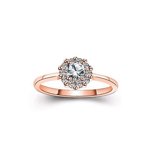 Sj-anelli fede nuziale con diamante anello con zircone