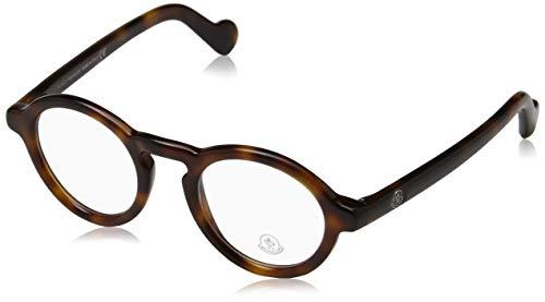 Moncler Unisex-Erwachsene Brillengestelle Ml5019, Braun (Avana SCURA), 46