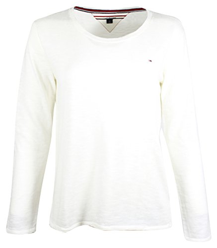 Womens Scoop Neck Knit (Tommy Hilfiger Womens Scoop Neck Cable Knit Sweater (XXL, White))