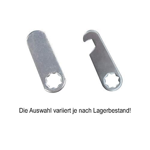 com-four® 2X Briefkastenschloss Möbel Schloss Briefkastenschlösser, 16 mm Tief (02 Stück 16 mm Gerader Bügel) - 5