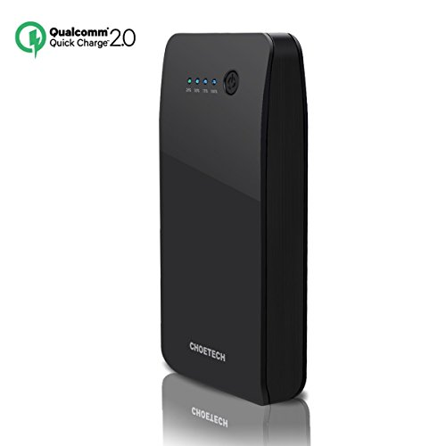 (Quick Charge 2.0 Power Bank) CHOETECH 20000mAh [Lightning + Quick Charge Inputs] Portable External Battery Fast Charger for Galaxy S6/S6 Edge/Nexus 6 and Other Apple Samsung Smartphones and Tablets