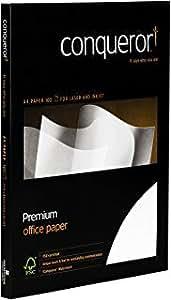100 Feuilles de Papier A4 Conqueror Contour Creme Martellé - Premium Office Paper