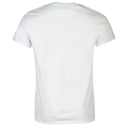 Firetrap Blackseal Herren Seer T Shirt Kurzarm Rundhals Brusttasche Regular Fit Weiß