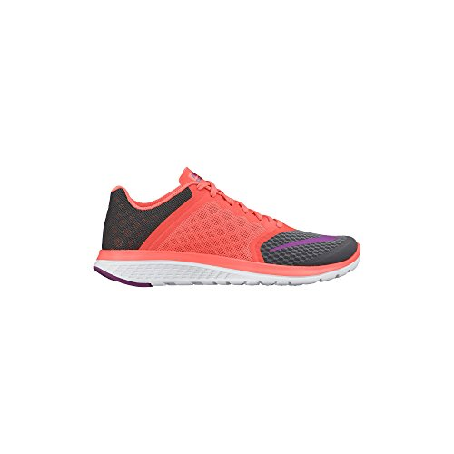 Nike Fs Lite Run 2, Chaussures de running femme Dark Grey/Hyper Orange/White/Vivid Purple