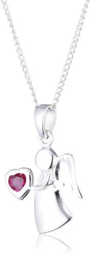 MiChic Childrens Kinder und Jugendliche-Halskette Silber Geburtsstein Angel Juli 41cm NC1017/2G