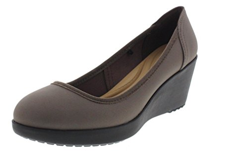 crocs Marin Colorlite Wedge Damen Pewter/Black 35