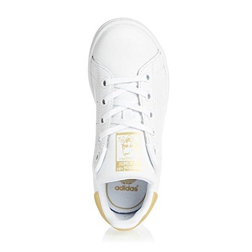 adidas Stan Smith, Sneaker a Collo Basso Unisex – Bambini bianco (Ftwbla/Ftwbla/Dormet)