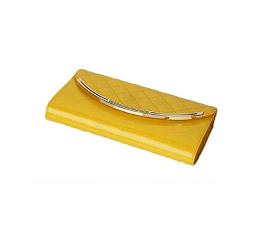 Spalla Lingge Messenger Bag Busta Donne Borsa Catena Piccola Borsa In Pelle LemonYellow