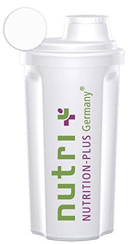 Classic-fitnessstudio (Nutri-Plus Classic Shaker (Transparent) 700ml für Eiweiß-, Protein- und Diätshakes - mit Schraubverschluss und Sieb - BPA-frei)