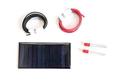 solar for DIY/Solar panel 6v-60mah / solar kit with 2 leds and 2 meters common wires/Mini solar panel