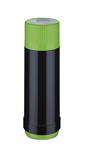 ROTPUNKT OTPUNKT NEU Isolierflasche 40, Glas, Black/Electric Grashopper, 750 ml