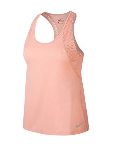 Nike Damen W NK Run Tank Top, pink Quartz/Reflective silv, M