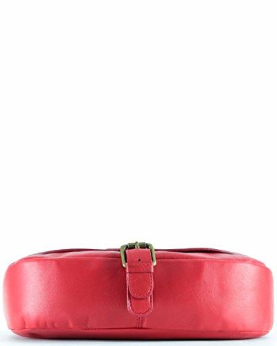 histoireDaccessoires - Borsa a tracolla Pelle Donna - SA142123RO-Suzy RossoRosso