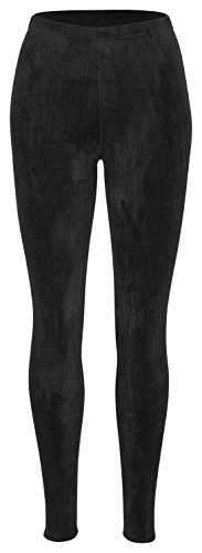 Piarini Winter-Leggings mit Teddy-Innenfleece | Thermo-Leggings extra kuschelig warm in Schwarz Gr.L-XL - Fleece Leggings