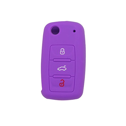 fassport-silicone-cover-skin-jacket-for-volkswagen-skoda-seat-3-button-flip-remote-key-cv2802-purple