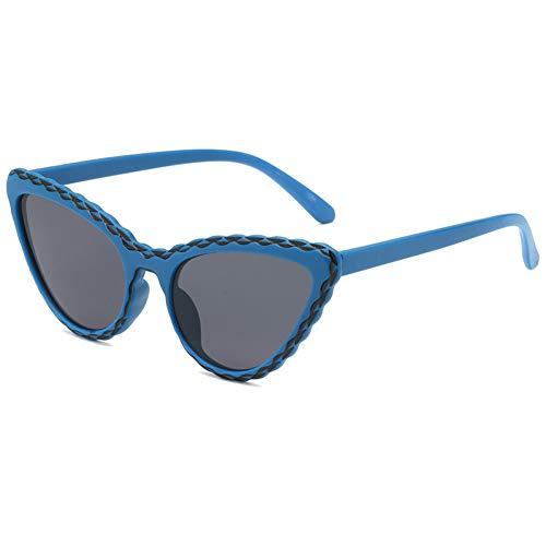 WZYMNTYJ Cat Eye Sonnenbrille Frauen Männer Sonnenbrille Eyewear Brillen PC Rahmen HD Objektiv UV400 Bunte Doppelstrahl Mode Neue