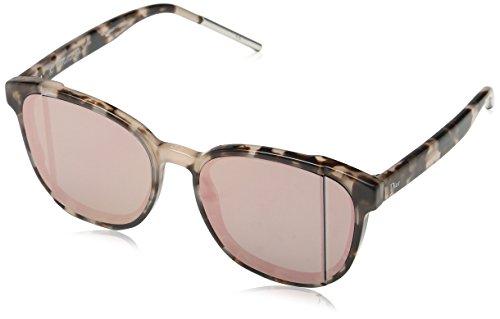 Christian Dior Damen Sonnenbrille Diorstep R2, Schwarz (Havana), 55 (Sonnenbrille Christian Dior Havana)