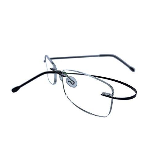 Huicai Randlose Lesebrille Männer Frauen Metallrahmen Brillen Rahmenlose Lesebrille