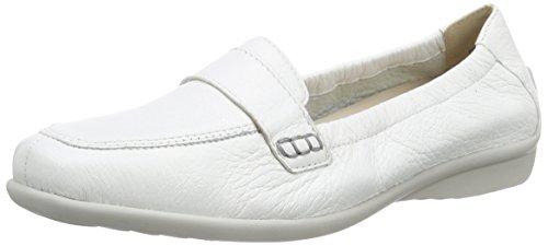 Caprice 24666, Damen Mokassin, Weiß (WHITE 100), 39 EU