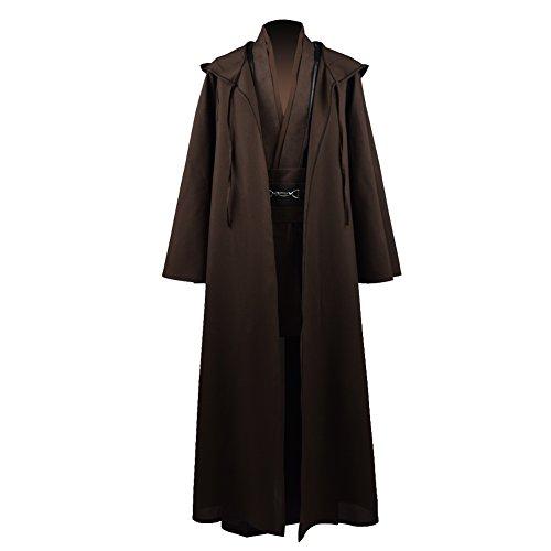 Zhangjianwangluokeji Jedi Knight Anakin Luke Skywalker Kostüm Cosplay Mantel Cosplay Kostüm Halloween Robe Outfit Anzug Mantel (L, Style 1) (Jedi Robe Kostüme)