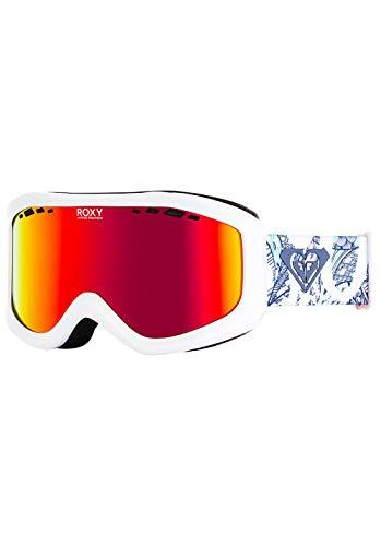 Roxy Damen Sunset ML Snowboard Goggles, Bright White freespace, One Size