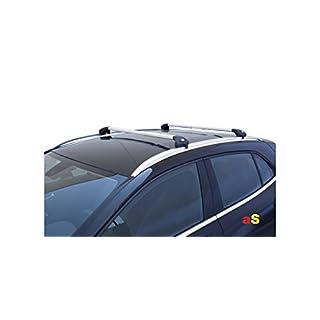 autoSHOP Auto-Dachträger Gepäckträger Viva 2integrierte für Opel Mokka ab 2012> aluminium
