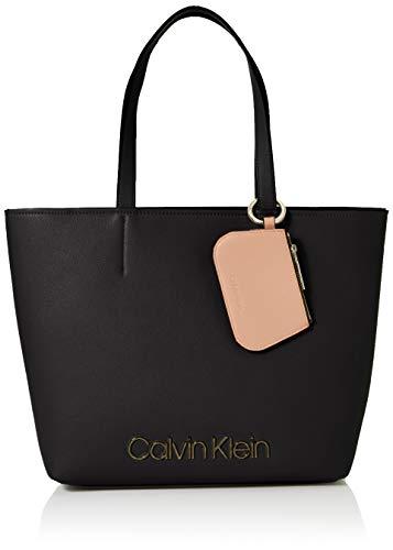 Calvin Klein Damen Ck Must Med Shopper Tote, Schwarz (Black), 11x27x39 cm (Kleiner Shopper)