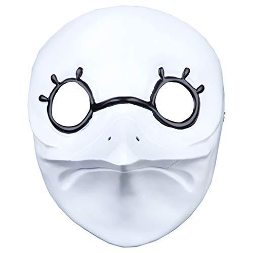 (Halloween Weihnachten Maske Doktor Assassins Creed Brothers Maske Harz Pest Lange Schnabel Maske Masken (Color : Weiß, Size : 17 * 21CM/7 * 8inch))