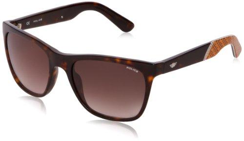 Police Herren S1859 CRYPTO 3 Wayfarer Sonnenbrille, Brown (Shiny Dark Havana)