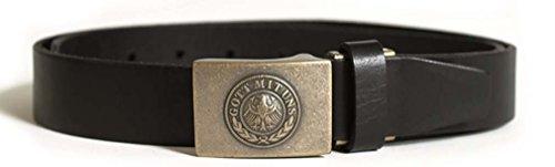 RW Hosengürtel Leder 30mm schwarz Gr.110
