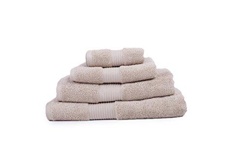 4 x serviettes en coton égyptien 650 g Face à biscuits