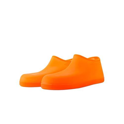 Selou Überschuhe Regenbekleidung Stiefel Schnee wasserdichte Schuhe Überziehschuhe Mehrweg Stahlkappen Freizeit Sportlich Wasserdicht Business Slip On High Top Schuhe S/M/L (Bass Boat Schuhe)