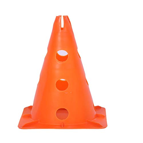 XXW Verkehrskegel Quadratisches unteres Loch Mark Kegel Fußballtraining Hürde Straßensperre Zeichen Barrel Training Hindernis Kombination Sicherheitskegel (Color : Orange, Größe : 1 Pack) (Orange Barrel Kostüm)