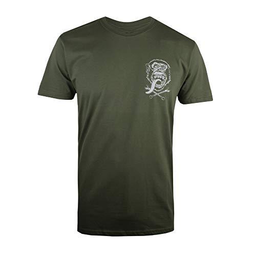 Gas Monkey Herren GMG Emblem T-Shirt, Grün (Military Green MIL), XXL -