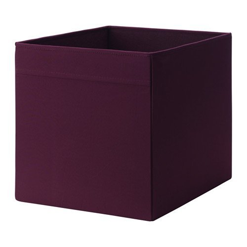 2 x IKEA DRONA 33x38x33cm Home/Office Storage Box Perfect for Everything (Red / lilac) by DRONA