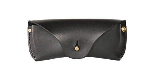 Brillenetui aus ca. 2,5 mm starkem vegetabil gegerbtes Sattelleder (Schwarz)