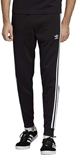 adidas Herren 3-Stripes Pant Sport Trousers, Black, XS -