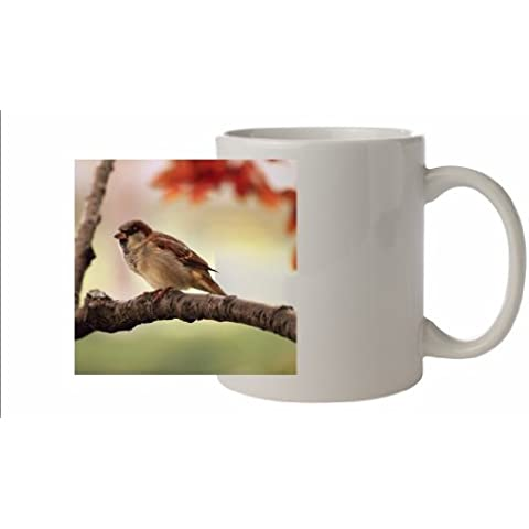 Uccelli, adatta per i passeri-Tazza in ceramica, lavabile in lavastoviglie, immagine a colori#46