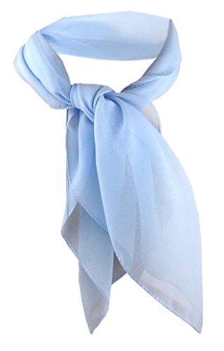 TigerTie - nicki paño de gasa - azul claro tamaño 50 cm x 50 cm - paño pañuelo bufanda
