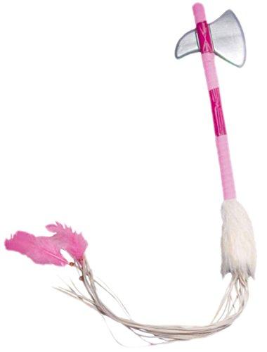 (erdbeerclown - Karneval Kostüm Accessoire Axt Indianer, Rosa)