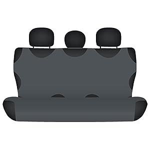 ZentimeX Z711108 Sitzbezüge Rückbank T-Shirt-Design Baumwolle dunkel grau