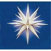 I6, Weiß, Komplett Mit Beleuchtung, Weihnachtsstern Herrnhut Für Innen, Aus  Papier,