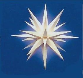 Herrnhuter Stern A7 68cm weiß inkl. Beleuchtung, Weihnachtsstern original Herrnhuter