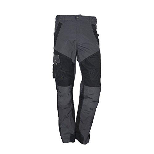 Just No Logo Arbeitshose mit Kniepolstertaschen Pro Herren Bundhose Regulär Beine , Grau, XXL/(Taille:100cm) x (Schrittlänge:85cm)