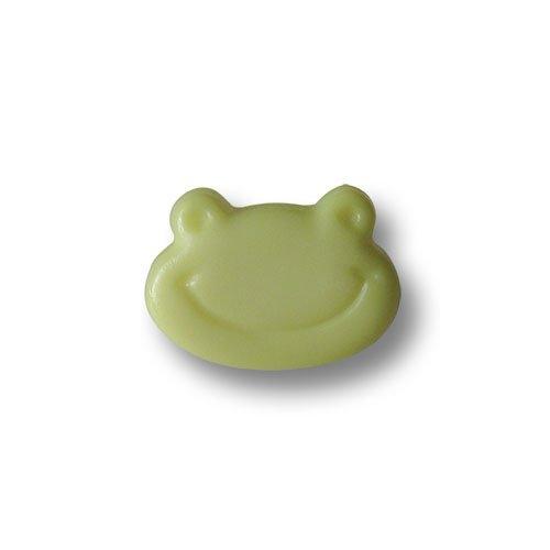 Knopfparadies - 8er Set niedliche kleine grüne Kinderknöpfe wie ein fröhlicher Frosch / Hellgrün bis Grün / Motivknöpfe / Ø ca. 9x12mm (Niedlich Wie Eine Knopf Kostüm)