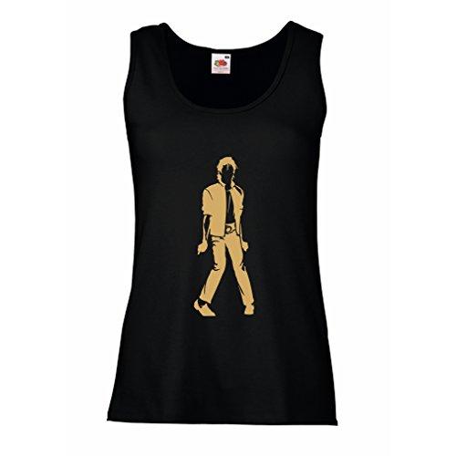 lepni.me Womens Tank Tops I Love M J - Vintage, Musically Shirt, Band Merch